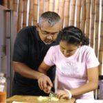 Dharshan Munidasa with his daughter
